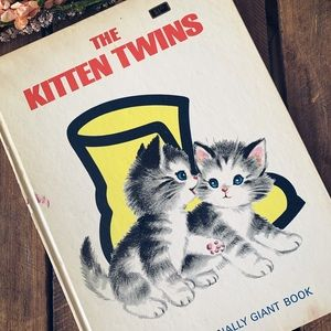 Rare Vintage The Kitten Twins Giant Book